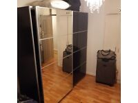 IKEA black-brown wardrobe in great condition