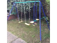 Outdoor swings and Trampoline for sale!!
