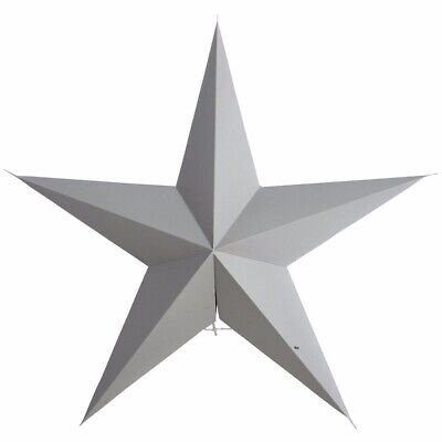 Hanging Paper Star. House Doctor Scandi Design. Grey 60cm. 5-point star