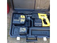 Dewalt 24 volt cordless hammer drill 2 battery's and charger