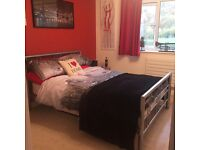 Double bed metal frame very good condition for sale