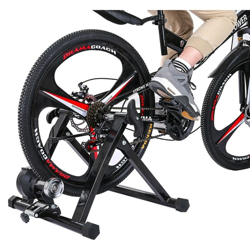 Quiet Magnetic Bike Trainer Stand Adjustable Indoor Exercise