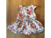 Next dress age 6-9 months 100% cotton