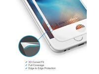 Edge to Edge 3D Tempered Glass Screen Protector Case For iPhone 6, 6s (White)