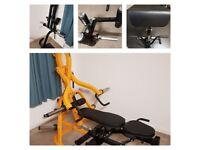 Powertec Lever Gym - Isolateral Arms - Leg Press - Preacher - Leg Extension / Curl Attachments