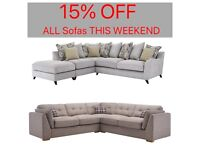 15% off All Sofas THIS WEEKEND