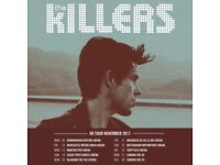 4 x Standing Tickets | The Killers | Sheffield | Saturday 25th November 2017