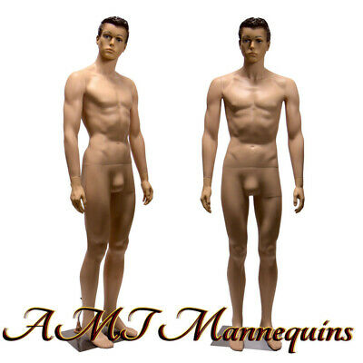 Male Mannequin 6ft Removable Head And Arms Skin Tone Full Body Manikin-ym8-1f