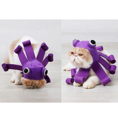 Haustier Kostüm Kraken Perücke Hut Welpen Kappen Kopfbedeckung für Katzen