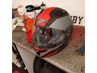 Rocc fibreglass motorbike helmet large