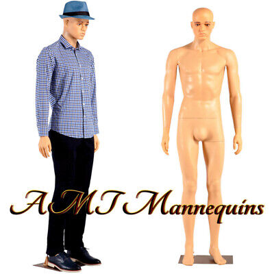 Male Mannequinfull Body Realistic Standing 6ft Manikinmetal Standym3-f1wig