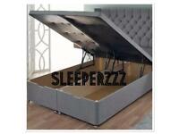 Florence wingback divan ottoman storage beds