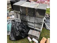 "Breeze blocks aircrete 9"" blocks building bricks material"