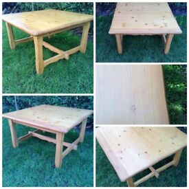 Square pine coffee table 32 inch x 32 inch x 18 inch high