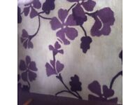 Large stone -beige / Purple design - thick rug - 1.80m x 122m