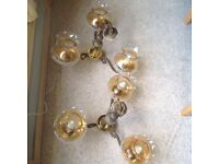 Antique style Brass ceiling lights x 2
