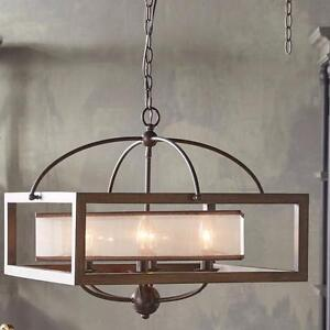 Mission 6 Light Candle-Style Chandelier by Cal Lighting - Brand New