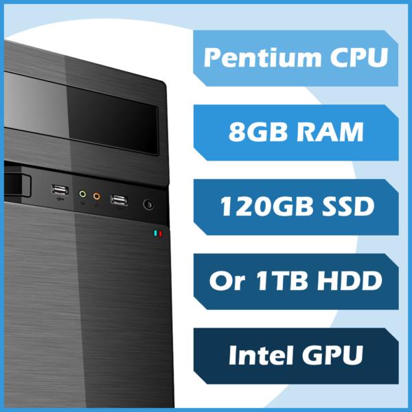 Business 4 Me PC - Pentium, 8GB, 120GB SSD, Win10