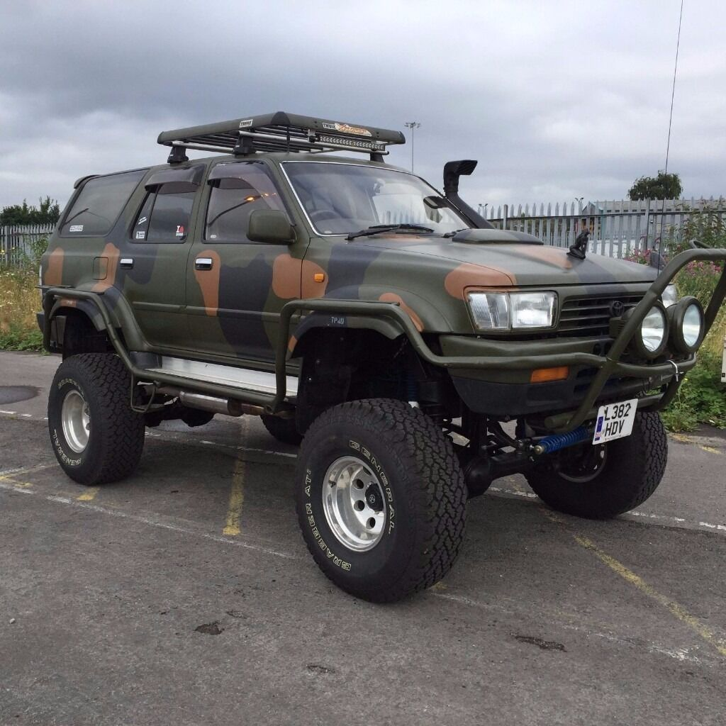 toyota hilux surf monster truck 4x4 modified offroad v8. Black Bedroom Furniture Sets. Home Design Ideas
