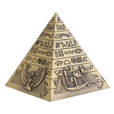 Egyptian Pyramid Piggy Bank Collectibles Wedding Favors Kids Gift Toy Bronze