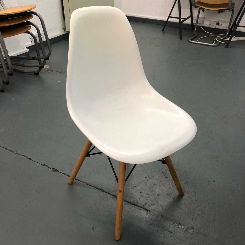 Miraculous Charles Eames Style White Chairs In Brighton East Sussex Gumtree Onthecornerstone Fun Painted Chair Ideas Images Onthecornerstoneorg