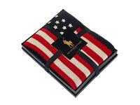Polo Ralph Lauren Flag Knit Navy Throw - 137-183cm Bedroom Furniture JK72