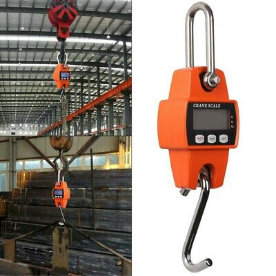 Mini Portable 300kg LCD Digital Weight Crane Scale Electronic w/ Hanging Hook