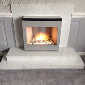 Grey/White Marble Fire Surround