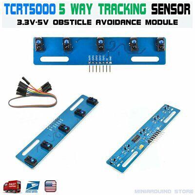 Tcrt5000 Infrared Line 5-way Tracking Sensor Obstacle Avoidance Module Robotics