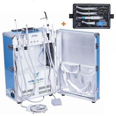 Dental Portable Unit P206 With Air Compressorcuring Lightscalerhandpiece 4h