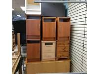 Selection of bedside lockers ( proper wood )
