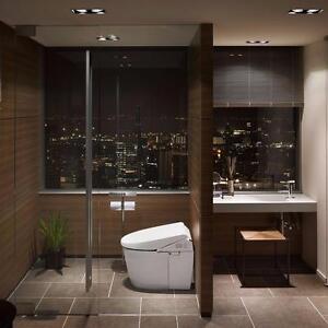 Toilette avec bidet intégré en céramique 15'', Toto