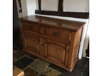 Solid English Oak medium size Sideboard