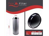 "PRO Fox Hydroponics 12"" Inch (315mm x 1200mm)Carbon Filter Indoor Growing"