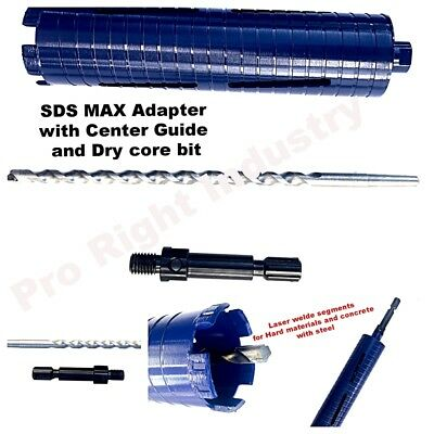 4.5 Core Drill Bit For Concrete With Sds Max Adapter Guide Safety Glasses