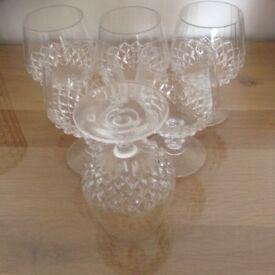 6 CUT GLASS WHISKEY GLASSES