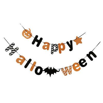 Happy Halloween Banner Diy (Halloween Theme Party DIY Pumpkin Hanging Bat Wall Happy Halloween)