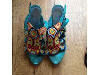 ladies multi coloured shoes size 5