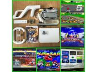 Wii retro gaming bundle over 6500 Nintendo/Sega plus more games