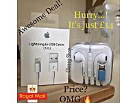 1m Apple Cable + Bluetooth Lightning Earphone