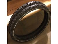 "Pair of bicycle tyres - Schwalbe 'Snow Studs' Snow Tyres - 26"" x 1.90 - have had only slight use"