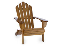 ADIRONDACK RECLINING WOODEN CHAIR GARDEN HOME FURNITUTRE CLASSIC STYLE BALCONY