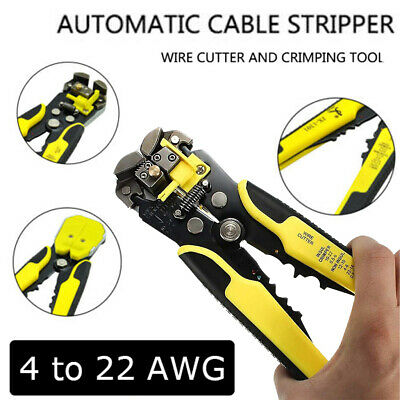 Professional Wire Cutter Stripper Cable Plier Crimper Peel Hand Terminal Tool