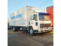 Left hand drive Volvo FL6.16 Turbo 16 Ton box lorry with tail lift. On 10 studs.