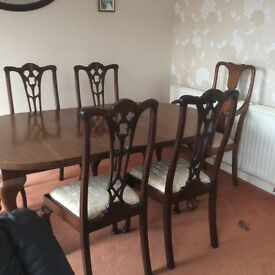 Victorian table and chairs