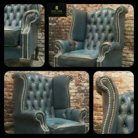 Queen Anne Chesterfield Chair