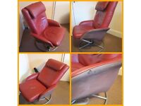 Free to good home red leather reclining chair