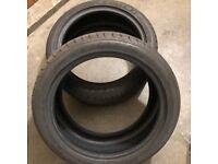 2x Part Worn Tyres - Goodyear 215/45R17 GDYR ASYMM5 87Y