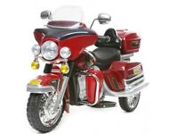 12 volt Harley Davidson electric ride on Red; can be Delivered pre Xmas