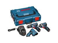 Bosch Professional GSB 12V-15 Cordless Combi Drill + GDR 12V Cordless Impact Driver with Two 12 V 2
